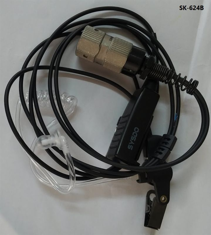SK-624B Two Wire Surveillance Headset