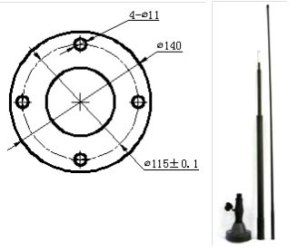 Military Wide Band Whip Antenna SB2.5